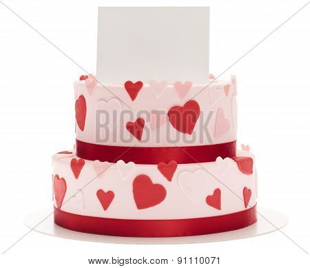 Celebration Cake With Greeting Card