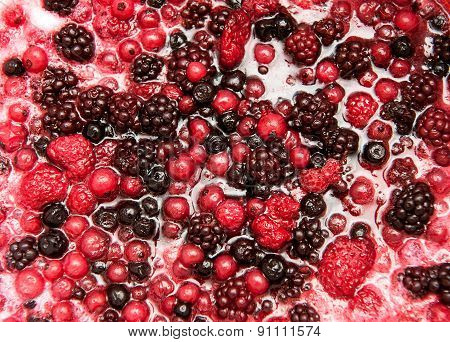 Mixture Of Autumn Berries For Flavoring Ice Cream