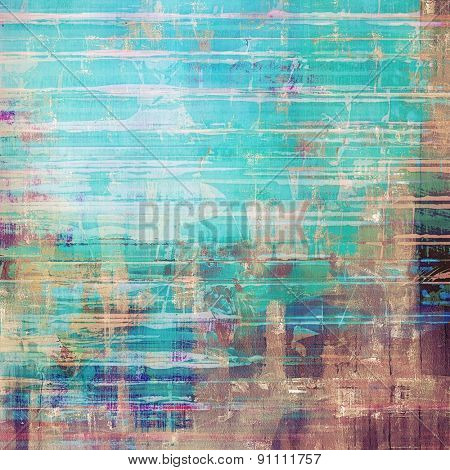 Grunge old texture as abstract background. With different color patterns: brown; blue; cyan