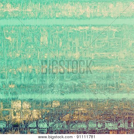 Grunge retro vintage texture, old background. With different color patterns: yellow (beige); brown; green; cyan