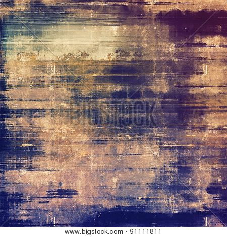 Antique vintage textured background. With different color patterns: yellow (beige); brown; blue; purple (violet)