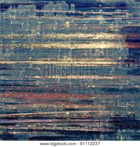 Old designed texture as abstract grunge background. With different color patterns: yellow (beige); brown; blue; purple (violet)