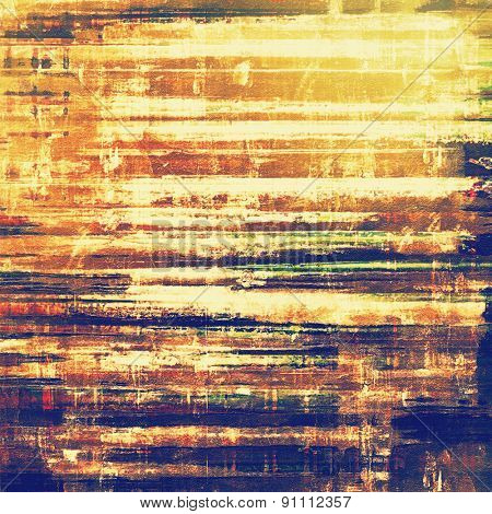 Old texture with delicate abstract pattern as grunge background. With different color patterns: yellow (beige); brown; blue