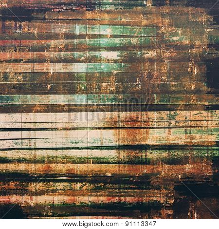 Grunge aging texture, art background. With different color patterns: yellow (beige); brown; black; green