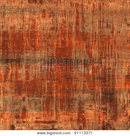 Old abstract grunge background, aged retro texture. With different color patterns: brown; gray; red (orange)