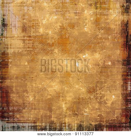 Antique vintage textured background. With different color patterns: yellow (beige); brown; gray