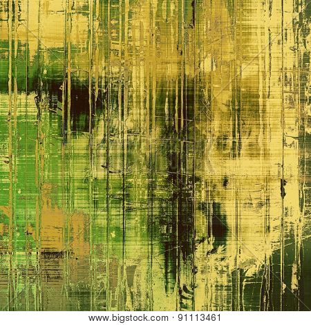 Designed grunge texture or background. With different color patterns: yellow (beige); brown; green