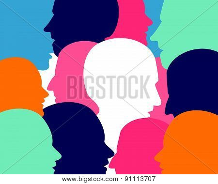 People Profile Heads.