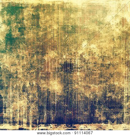 Grunge stained texture, distressed background with space for text or image. With different color patterns: yellow (beige); brown; green; blue