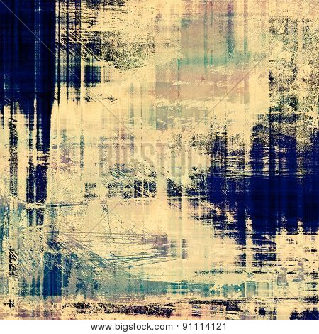 Grunge texture, distressed background. With different color patterns: yellow (beige); gray; blue; cyan