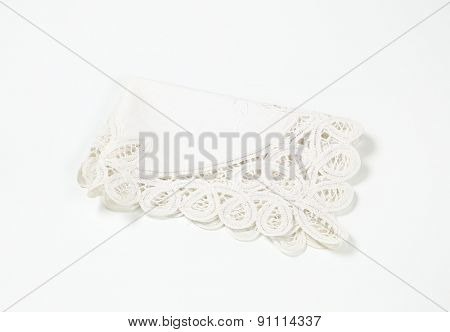 lace place mat on white background