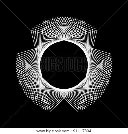 White Abstract Fractal Shape