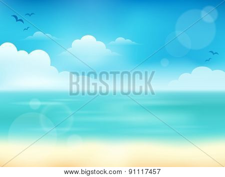 Summer theme abstract background 2 - eps10 vector illustration.