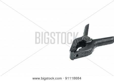 Plastic Clamp Isolated