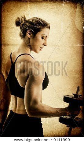 Female Bodybuilder Aged/Toned