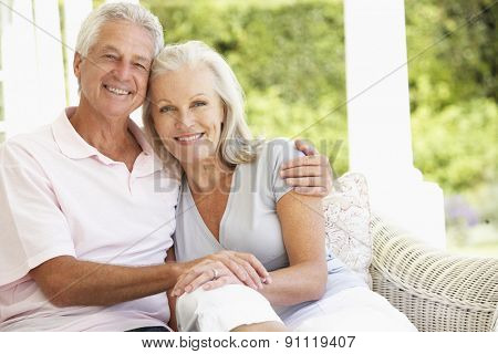 Portrait Of Romantic Senior Couple