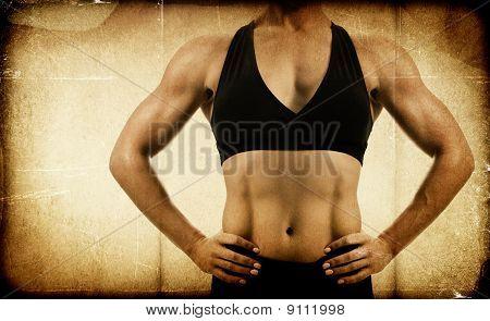 Leeftijd/afgezwakt vrouwelijke Bodybuilder