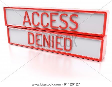 Access Denied - Isolated 3D Render