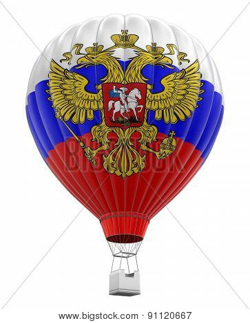 Hot Air Balloon with Russian Flag (clipping path included)