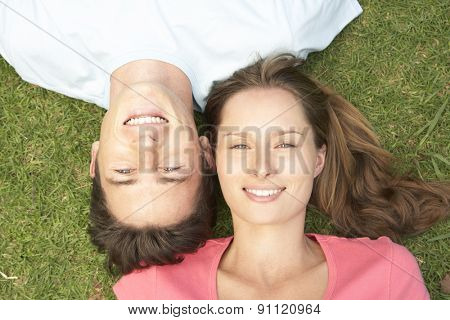 Overhead View Of Young Couple