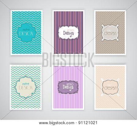 Collection of retro design templates