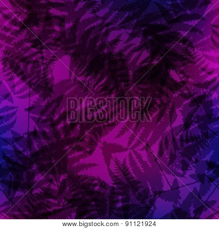 Seamless pattern of fern leaves. Vector illustration