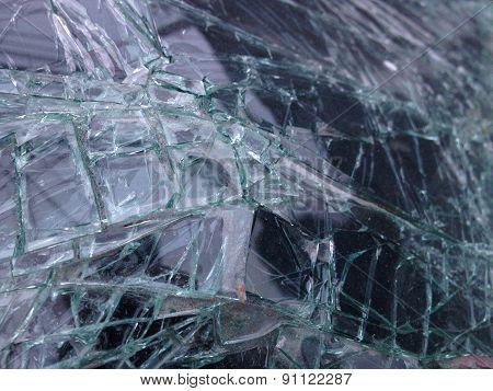 Broken car mirror