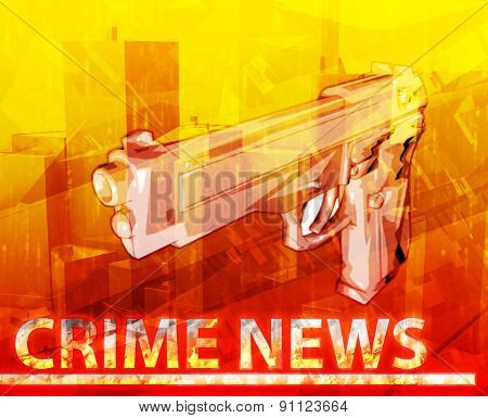 Abstract background digital collage concept illustration crime news