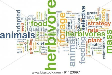 Background concept wordcloud illustration of herbivore