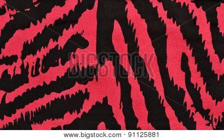 Pink And Black Zebra Pattern.