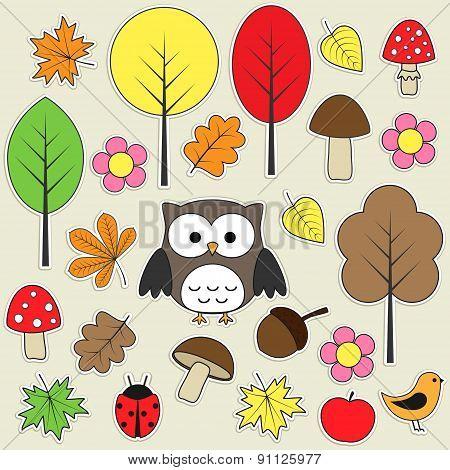 Autumnal Stickers