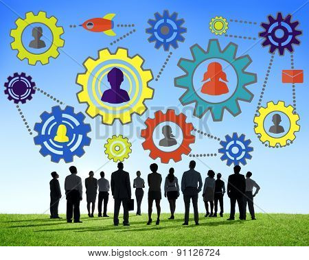 Community Business Team Partnership Collaboration Support Concept