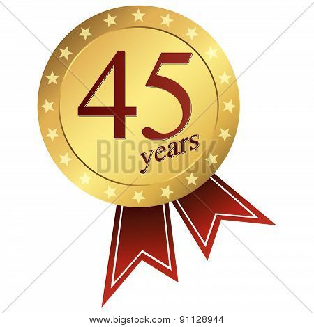 Gold Jubilee Button - 45 Years