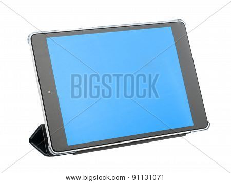 Tablet set with a folding cover