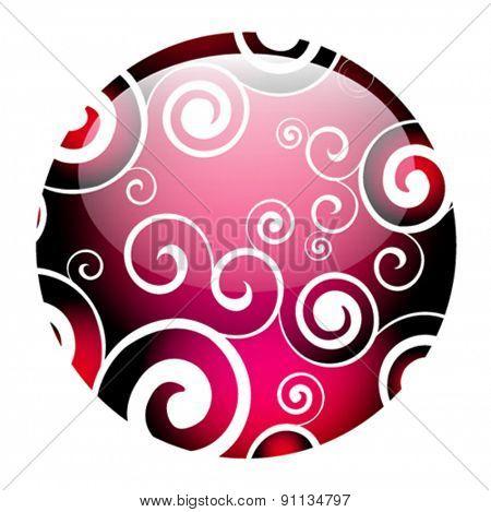 vector floral ball