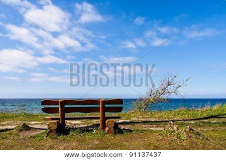 Bench On The Baltic Sea Coast