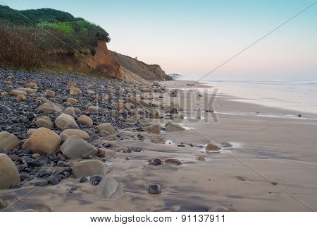 Rocks Along an Ocean Shore