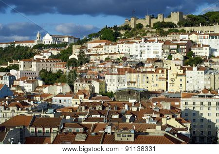 Overview of the old town, Lisbon, Portugal.