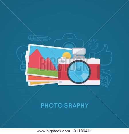 Camera and pictures.