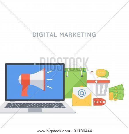 Digital marketing background.