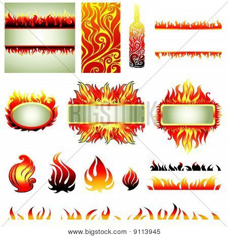 Big vector set of fire design elemets