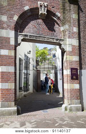 Entrance Porch Of Begijnhof In Amsterdam