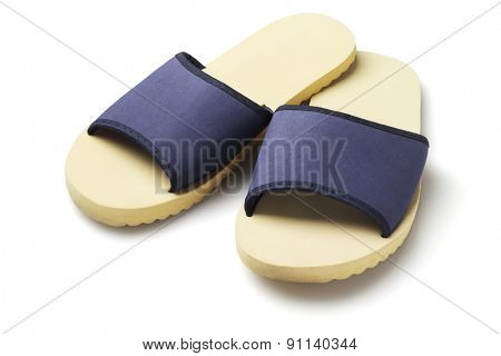 Pair of Household slippers on White Background