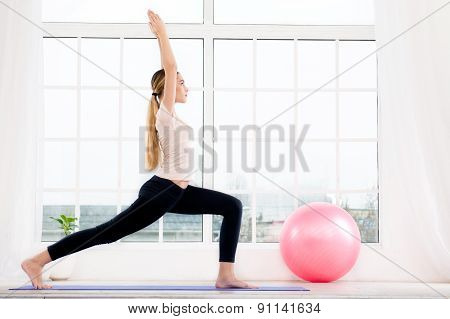 Yoga concept with beautiful woman