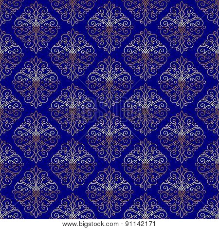 Seamless pattern with flourishes calligraphic elegant ornament elements - vector background