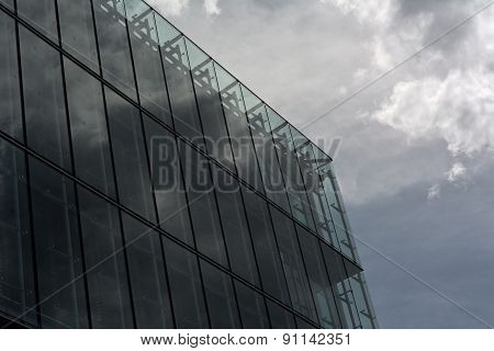 Architecture With Storm Cloud Reflection