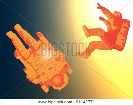 Astronauts Drifting