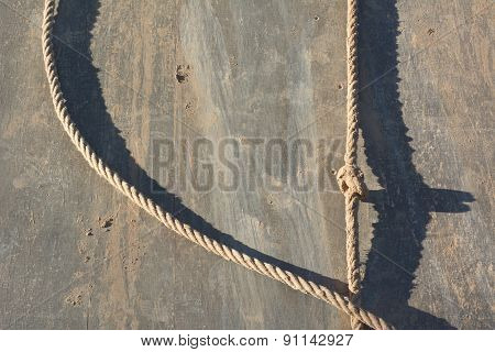 Muddy Rappelling Wall With Rope