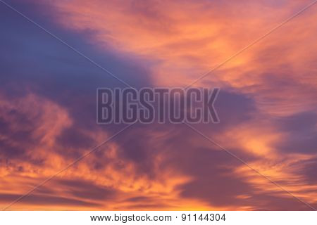 Dramatic Red Clouds