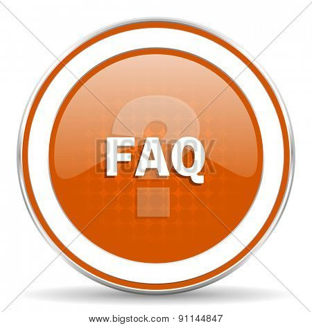 faq orange icon